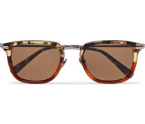 D-frame Tortoiseshell Acetate And Gunmetal-tone Sunglasses