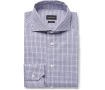 Trofeo Slim-fit Cutaway-collar Checked Cotton-poplin Shirt