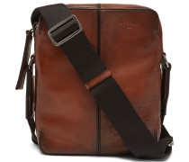 Monolithe Small Leather Messenger Bag - Brown