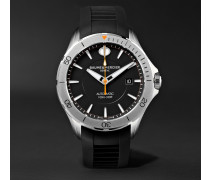 Clifton Club Automatic 42mm Stainless Steel And Rubber Watch - Black