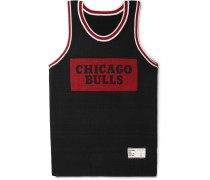 + Nba Chicago Bulls Intarsia Cashmere And Silk-blend Tank Top