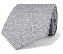 8cm Silk-blend Jacquard Tie - Gray