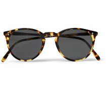 O'malley Round-frame Tortoiseshell Acetate Polarised Sunglasses