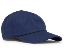 Cotton-blend Twill Baseball Cap - Navy