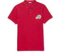 Slim-fit Appliquéd Cotton-piqué Polo Shirt