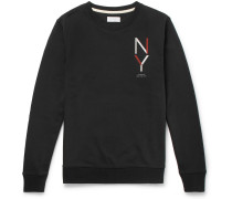 Bowery Logo-print Loopback Cotton-jersey Sweatshirt - Black