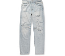 Distressed Denim Jeans - Light blue