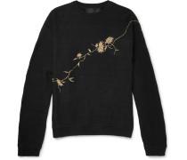 Oversized Embroidered Loopback Cotton-jersey Sweatshirt