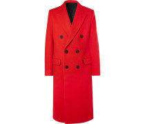 Slim-fit Double-breasted Felted Wool-blend Coat