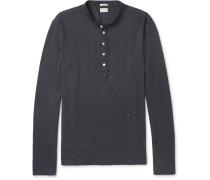 Cotton And Cashmere-blend Henley T-shirt