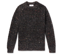 Donegal Cable-knit Merino Wool, Alpaca And Silk-blend Sweater - Black