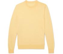 Sea Island Cotton Sweater - Yellow