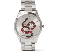 G-timeless Snake-dial 38mm Stainless Steel Watch