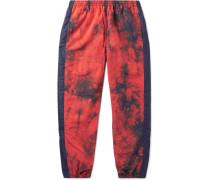 Striped Tie-dyed Nylon Sweatpants - Orange