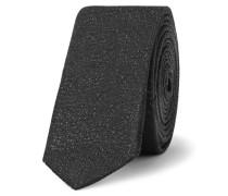 4cm Silk-blend Tie - Black
