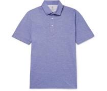 Slim-fit Mélange Cotton Polo Shirt