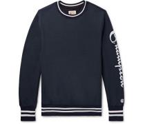 Logo-print Loopback Cotton Jersey Sweatshirt - Midnight blue