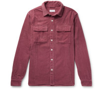 Magnus Cotton-corduroy Shirt - Plum