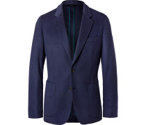 Navy Soho Slim-fit Unstructured Cashmere Blazer