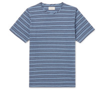 Dartford Striped Cotton-jersey T-shirt - Blue
