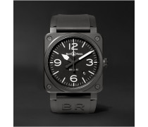 Br 03-92 42mm Ceramic And Rubber Watch