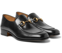 Mister Horsebit Collapsible-heel Leather Loafers - Black