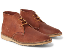 Weekender Brushed-leather Chukka Boots