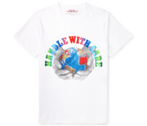 Slim-Fit Printed Organic Cotton-Jersey T-Shirt