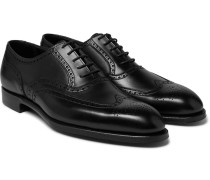 Reuben Leather Wingtip Brogues - Black