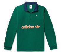 Samstag Colour-Block Logo-Appliquéd Fleece Half-Zip Sweatshirt