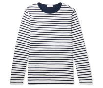 Striped Long-Sleeved Cotton-Jersey T-Shirt