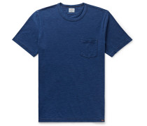 Indigo-Dyed Cotton-Jersey T-Shirt