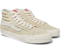 Og Sk8-hi Lx Canvas And Suede High-top Sneakers - White