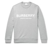 Logo-Print Mélange Loopback Cotton-Jersey Sweatshirt