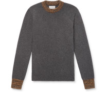 Slim-Fit Blenheim Mélange-Trimmed Wool Sweater
