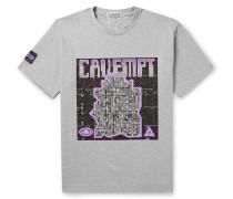 Logo-Print Mélange Cotton-Jersey T-Shirt