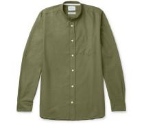 Hans Grandad-collar Cotton-ripstop Shirt