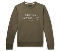 Bowery Logo-Embroidered Loopback Cotton-Jersey Sweatshirt
