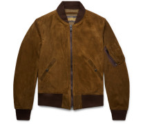 Ma-1 Suede Bomber Jacket - Brown