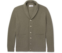 Shawl-collar Ribbed Wool, Cashmere And Silk-blend Cardigan