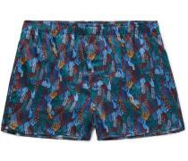 Brindisi Printed Silk Boxer Shorts