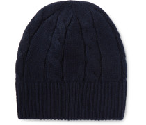 Cable-knit Wool Beanie