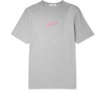 MR PORTER Health In Mind Printed Mélange Cotton-Jersey T-Shirt