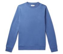 Harris Fleeceback Cotton-jersey Sweatshirt - Light blue