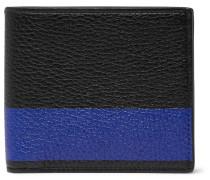 Burlington Striped Full-grain Leather Billfold Wallet - Black