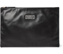 Logo-Appliquéd Leather Pouch
