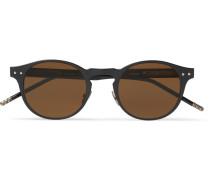 Round-frame Coated-aluminium And Acetate Sunglasses
