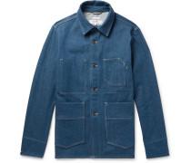 Slim-fit Indigo-dyed Denim Chore Jacket - Indigo