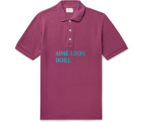 Logo-Print Cotton-Piqué Polo Shirt