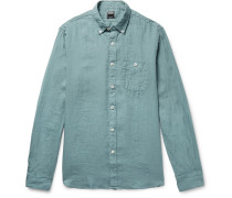 Linen Shirt - Gray green